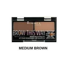 Kit sculptare sprancene RIMMEL LONDON Brow this way Medim Brown