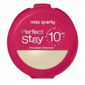MISS SPORTY Perfect Stay 10HR Pressed Powder 001 Light