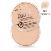 Pudra matifianta RIMMEL LONDON Stay Matte 01 Transparent
