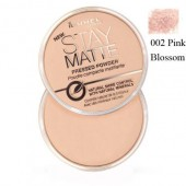 Pudra matifianta RIMMEL LONDON Stay Matte 02 Pink Blossom