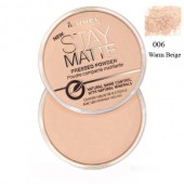 Pudra matifianta RIMMEL LONDON Stay Matte 06 Warm Beige